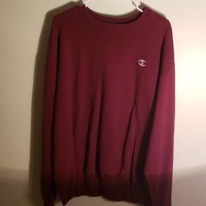 Mens maroon/burgundy Champion crewneck sweater